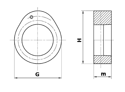 Dimensional diagram of a valve cam forging